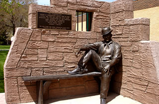 Sundance Kid Bronze in Sundance, Wyoming