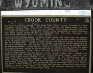 crook county wy sign