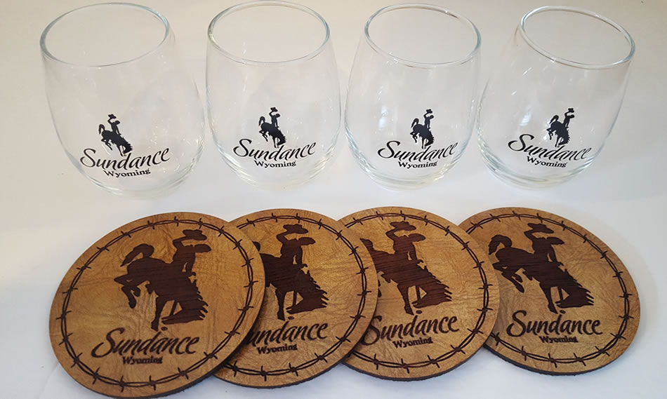 Sundance stemless wine glass set